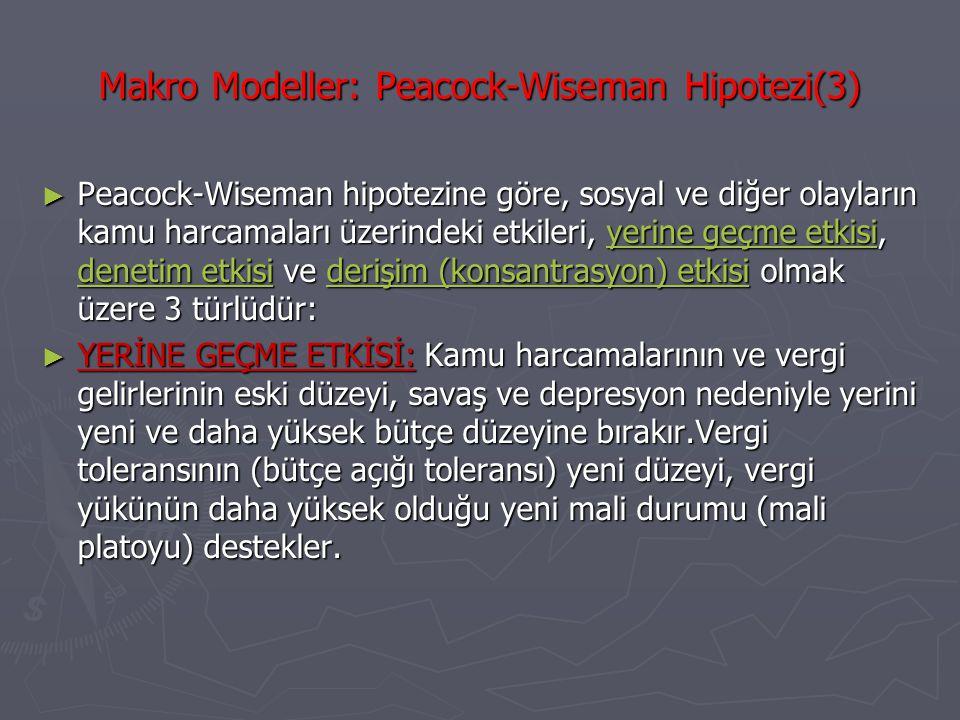 Makro Modeller: Peacock-Wiseman Hipotezi(3)