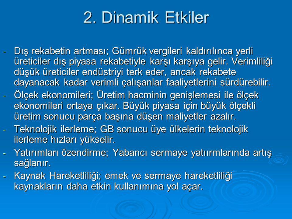 2. Dinamik Etkiler