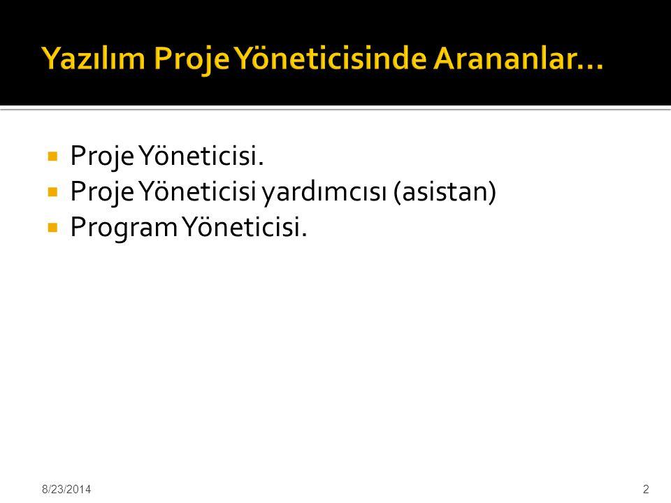 Yazılım Proje Yöneticisinde Arananlar…