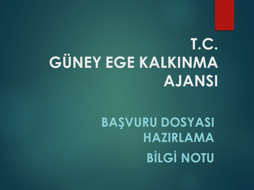 T.C. GÜNEY EGE KALKINMA AJANSI