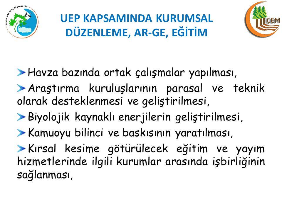 UEP KAPSAMINDA KURUMSAL DÜZENLEME, AR-GE, EĞİTİM