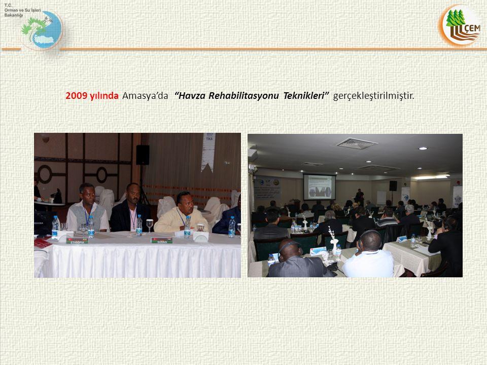 2009 yılında Amasya'da Havza Rehabilitasyonu Teknikleri gerçekleştirilmiştir.