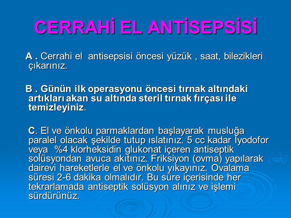 CERRAHİ EL ANTİSEPSİSİ