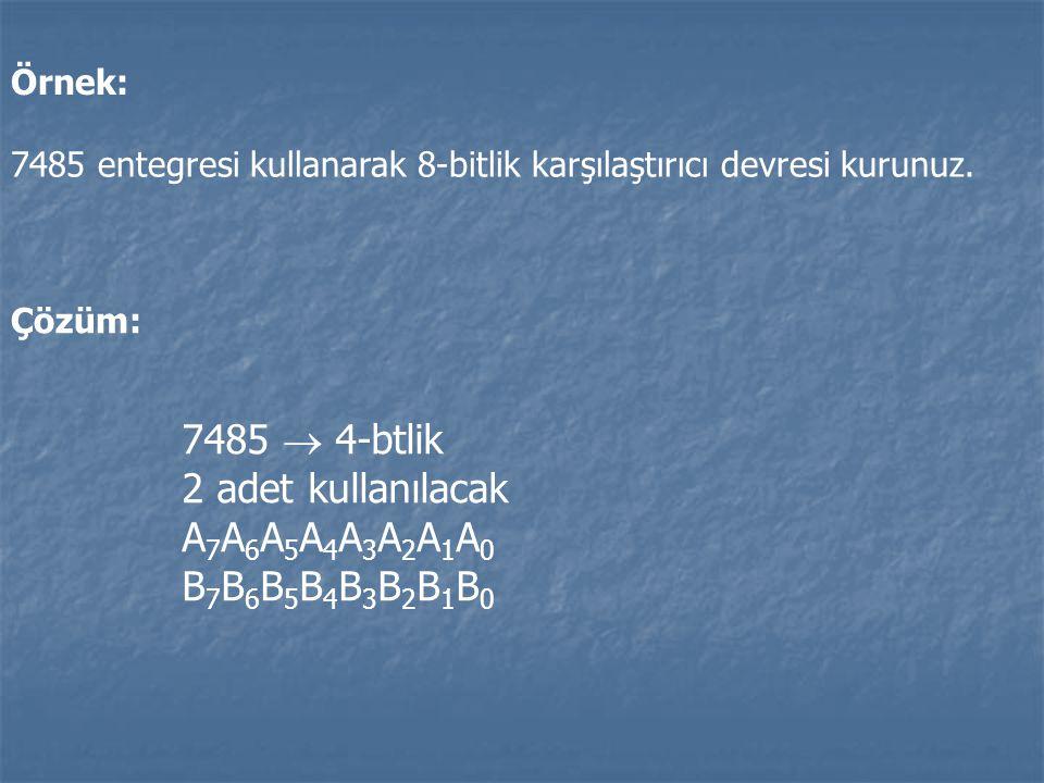 7485  4-btlik 2 adet kullanılacak A7A6A5A4A3A2A1A0 B7B6B5B4B3B2B1B0