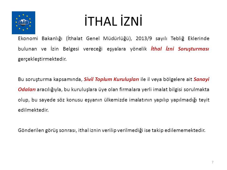 İTHAL İZNİ
