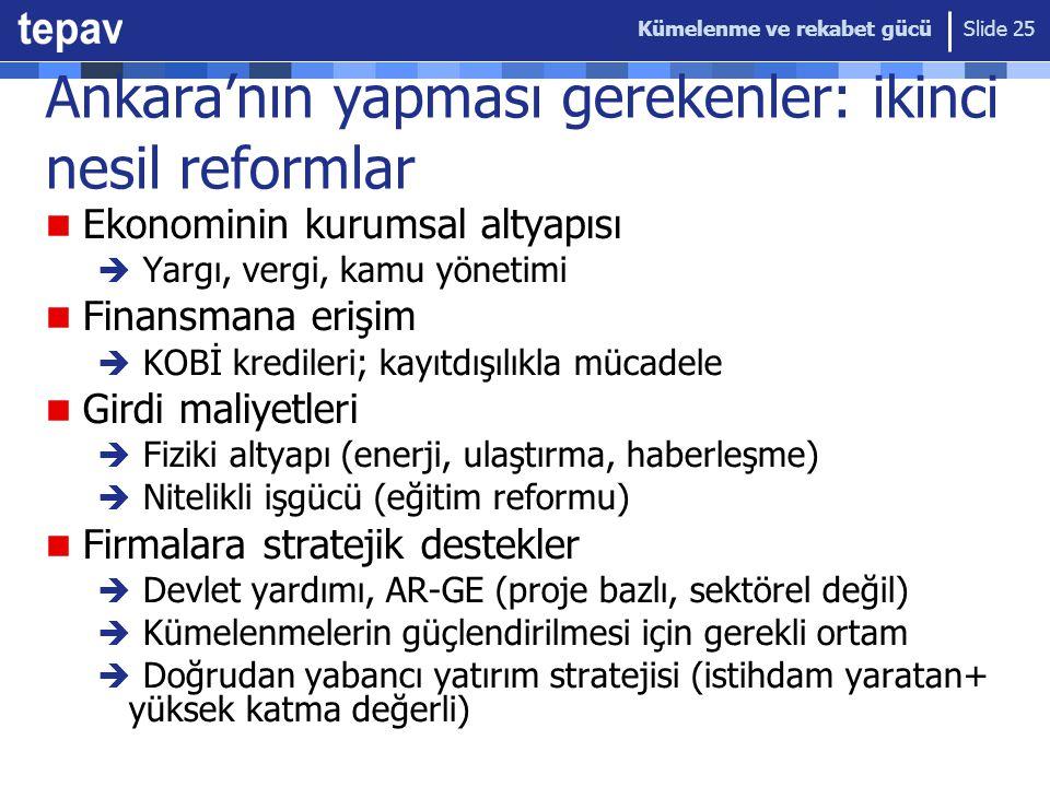 Ankara'nın yapması gerekenler: ikinci nesil reformlar