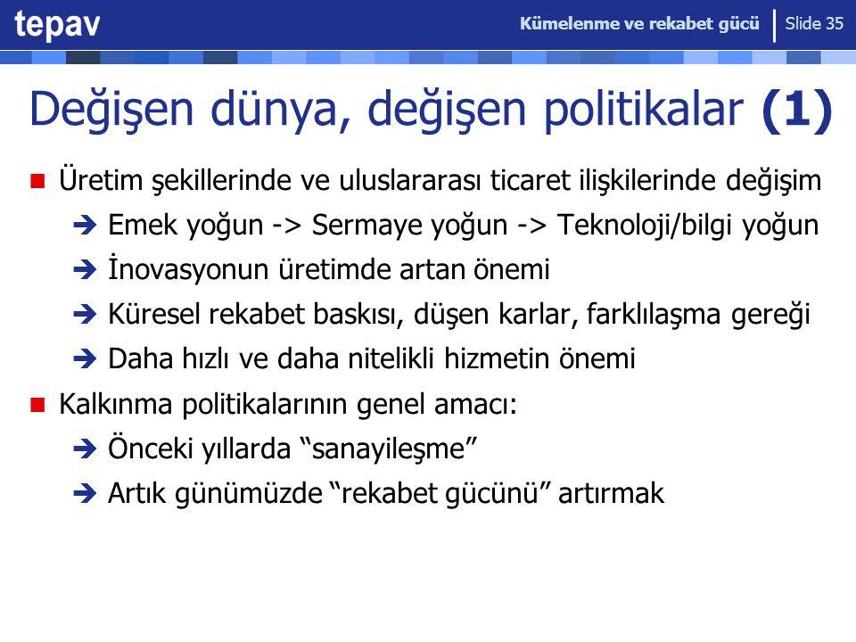 Değişen dünya, değişen politikalar (1)