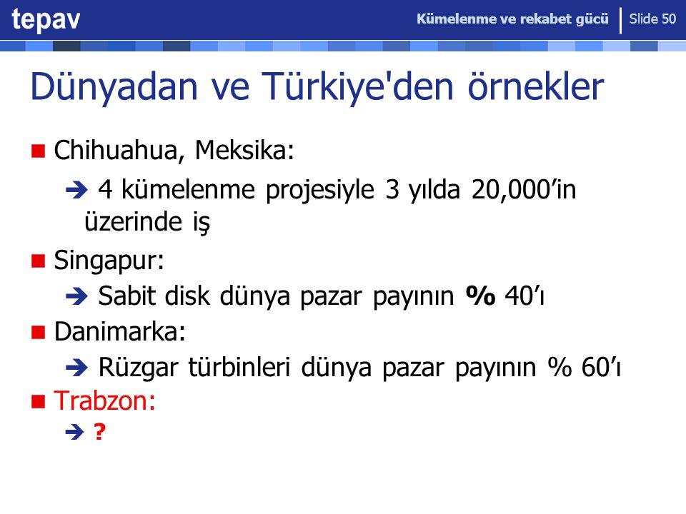 Dünyadan ve Türkiye den örnekler