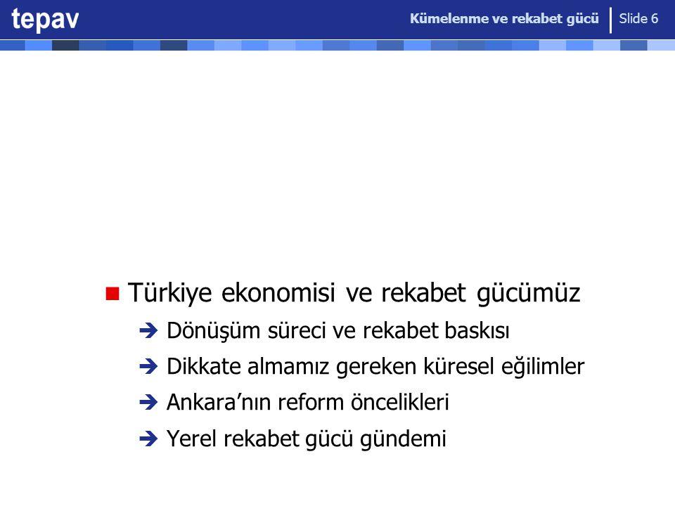 Türkiye ekonomisi ve rekabet gücümüz