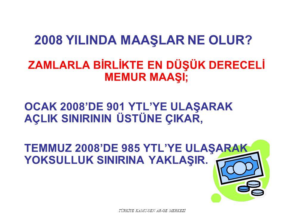 2008 YILINDA MAAŞLAR NE OLUR
