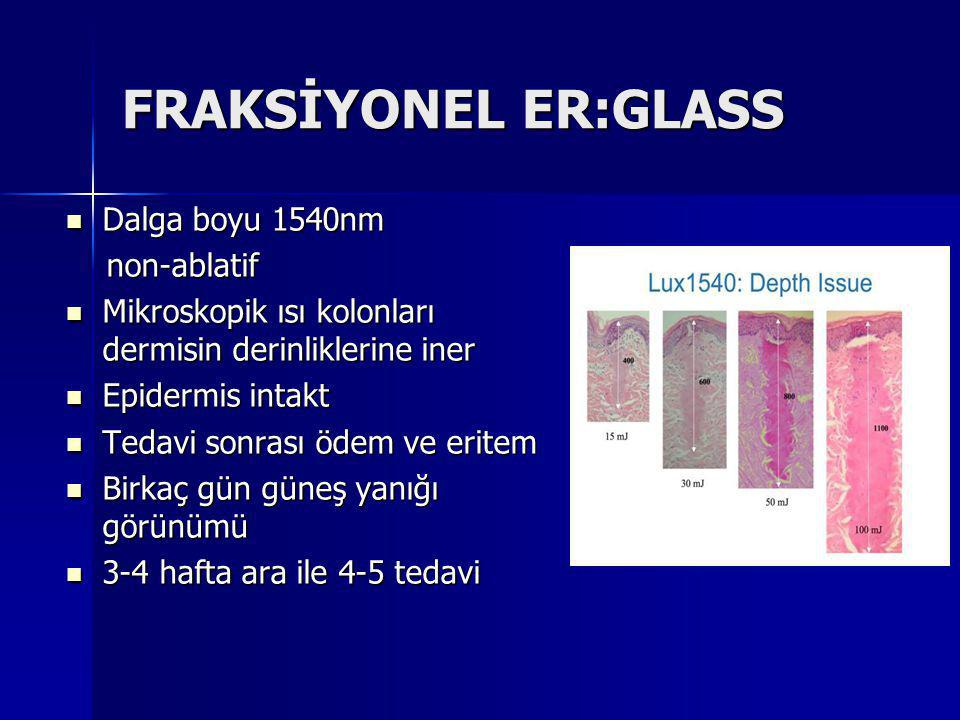 FRAKSİYONEL ER:GLASS Dalga boyu 1540nm non-ablatif