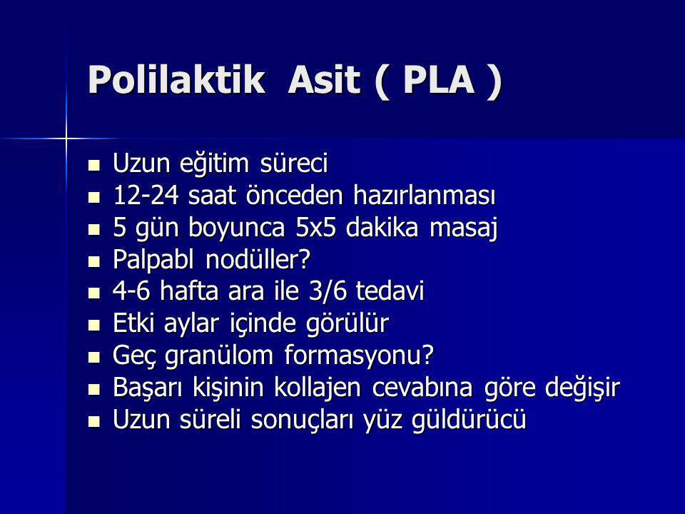 Polilaktik Asit ( PLA ) Uzun eğitim süreci