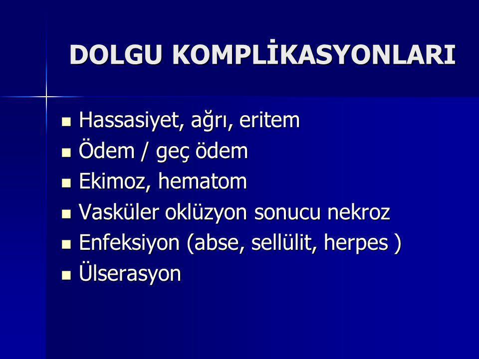 DOLGU KOMPLİKASYONLARI