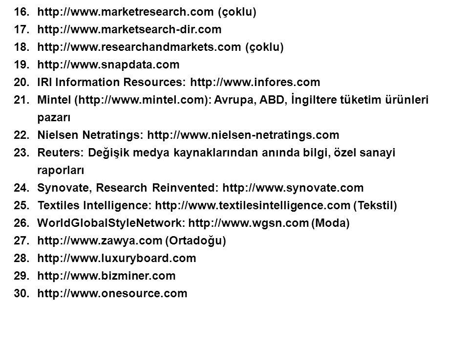 http://www.marketresearch.com (çoklu)