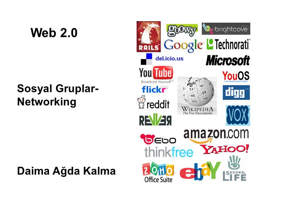 Web 2.0 Sosyal Gruplar- Networking Daima Ağda Kalma