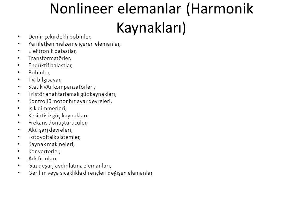 Nonlineer elemanlar (Harmonik Kaynakları)