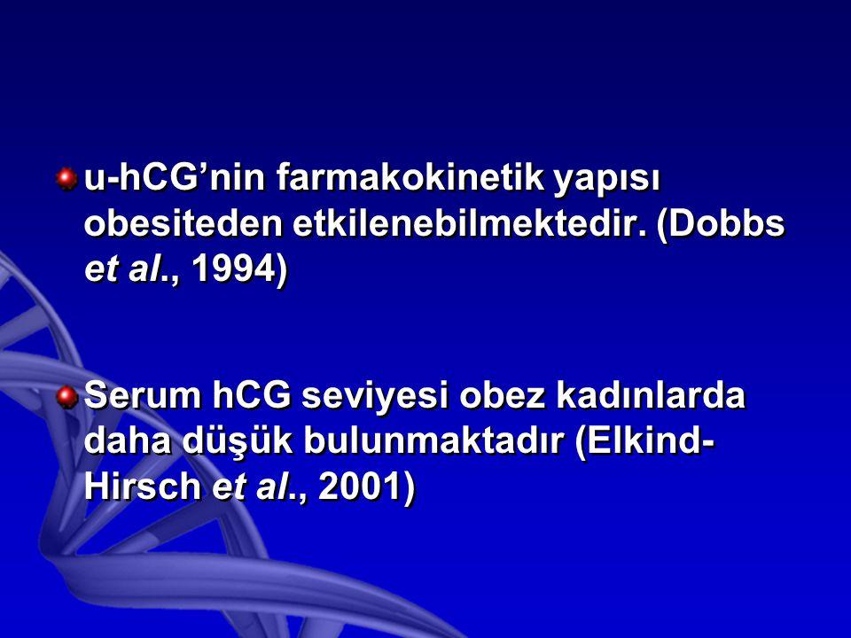 u-hCG'nin farmakokinetik yapısı obesiteden etkilenebilmektedir