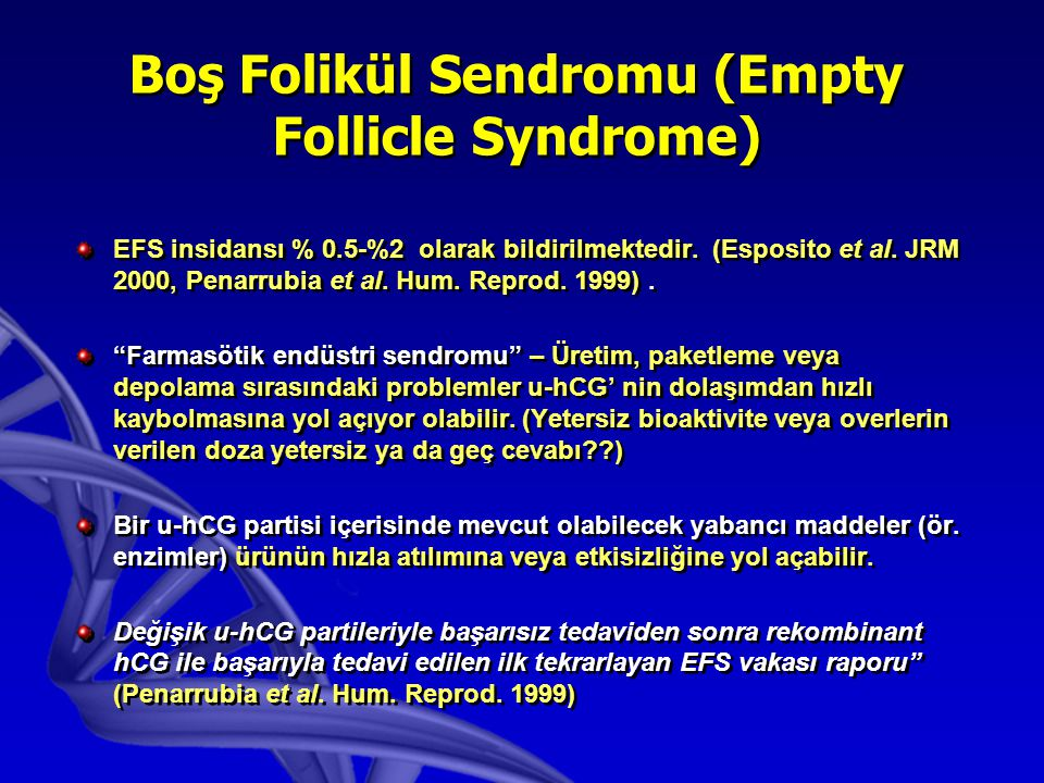 Boş Folikül Sendromu (Empty Follicle Syndrome)