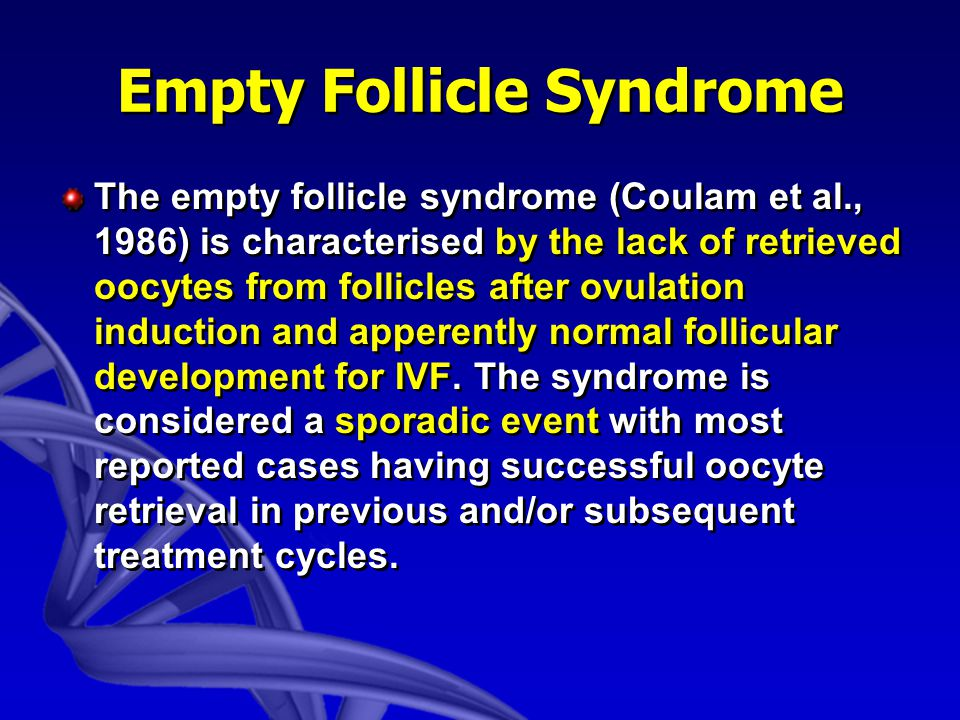 Empty Follicle Syndrome