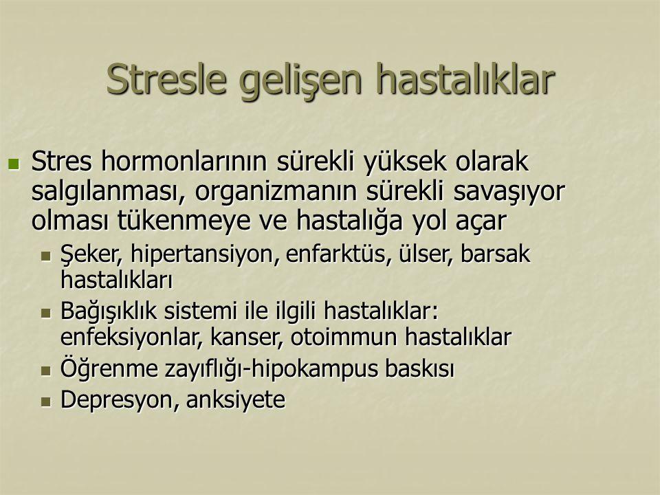 Stresle gelişen hastalıklar