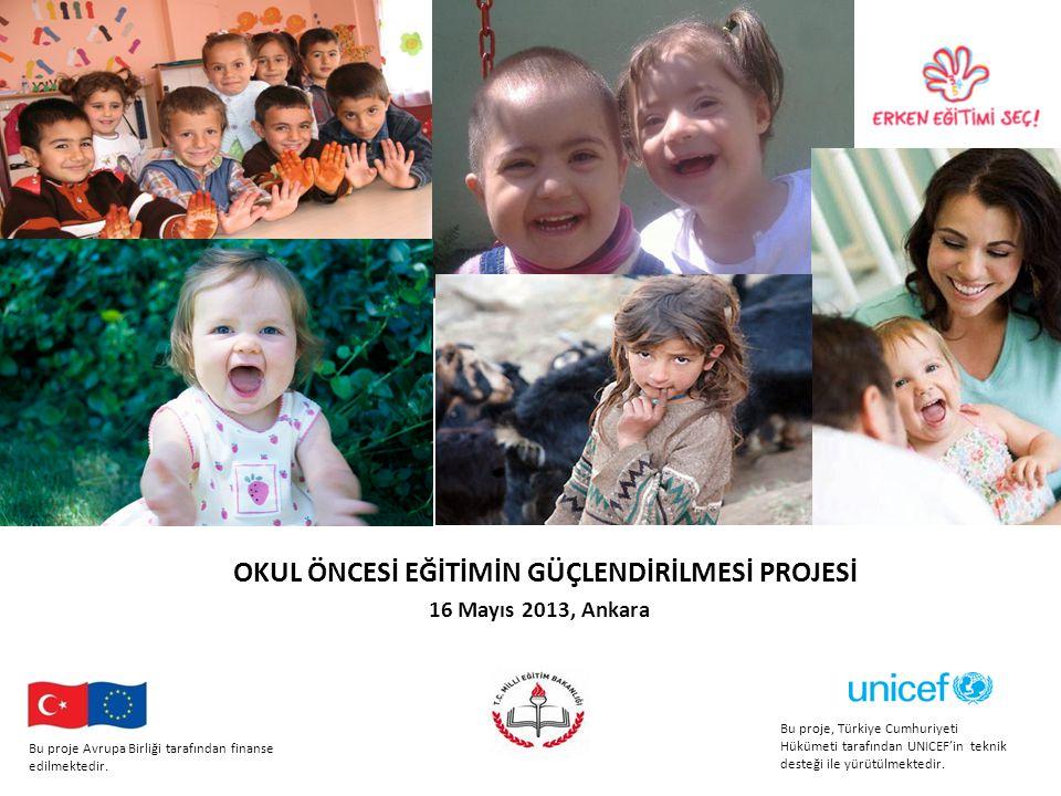 OKUL ÖNCESİ EĞİTİMİN GÜÇLENDİRİLMESİ PROJESİ 16 Mayıs 2013, Ankara