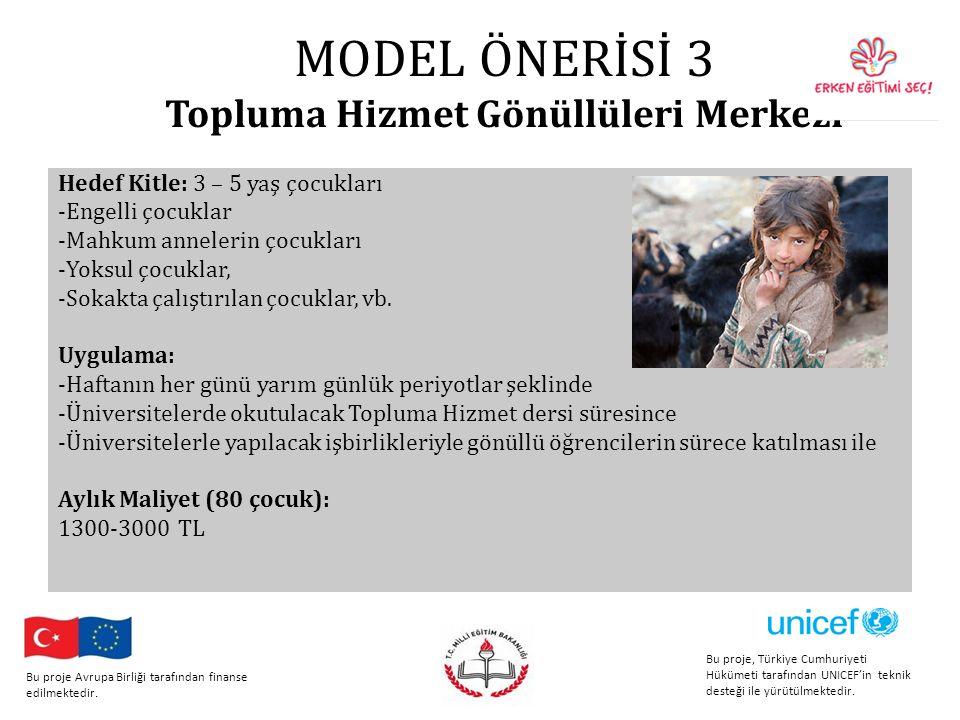 MODEL ÖNERİSİ 3 Topluma Hizmet Gönüllüleri Merkezi