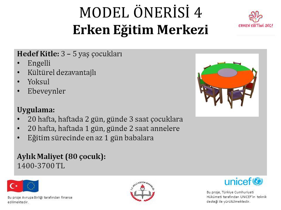 MODEL ÖNERİSİ 4 Erken Eğitim Merkezi