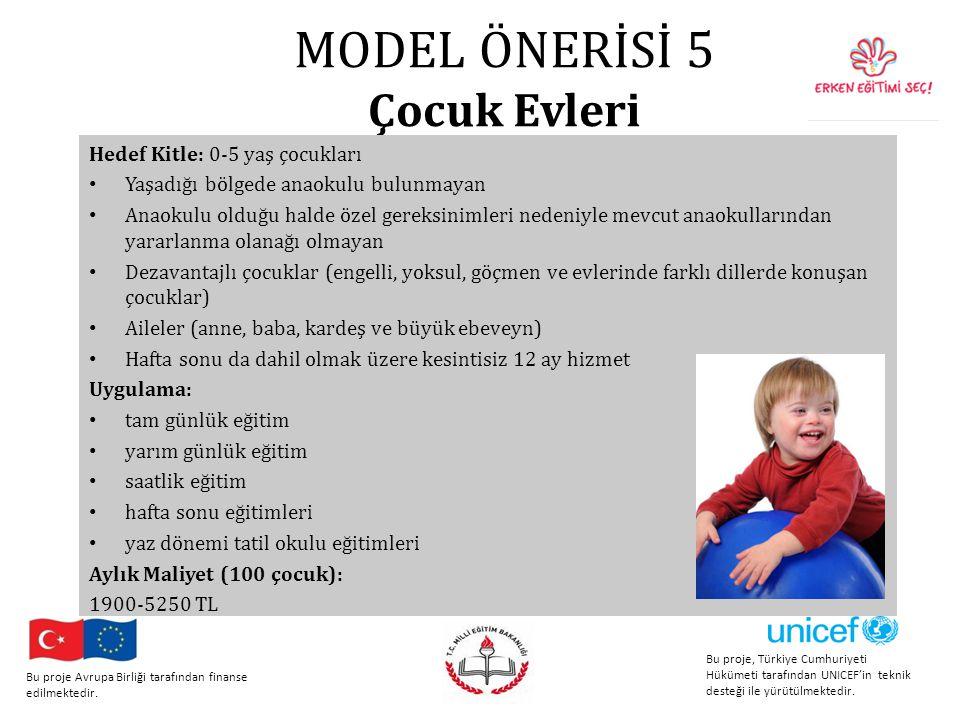 MODEL ÖNERİSİ 5 Çocuk Evleri