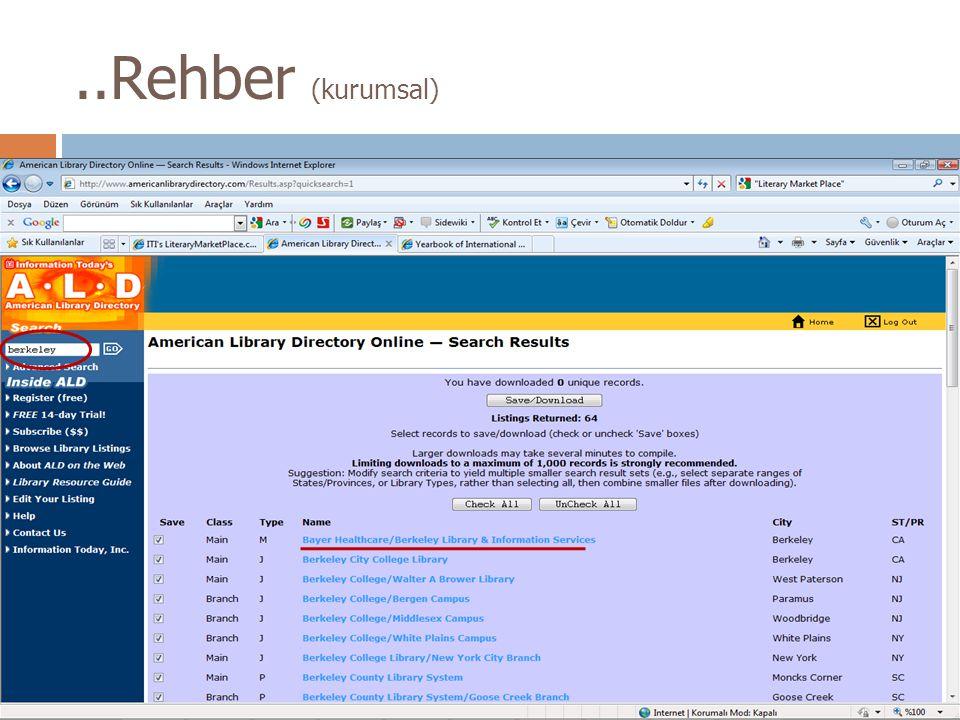 ..Rehber (kurumsal)