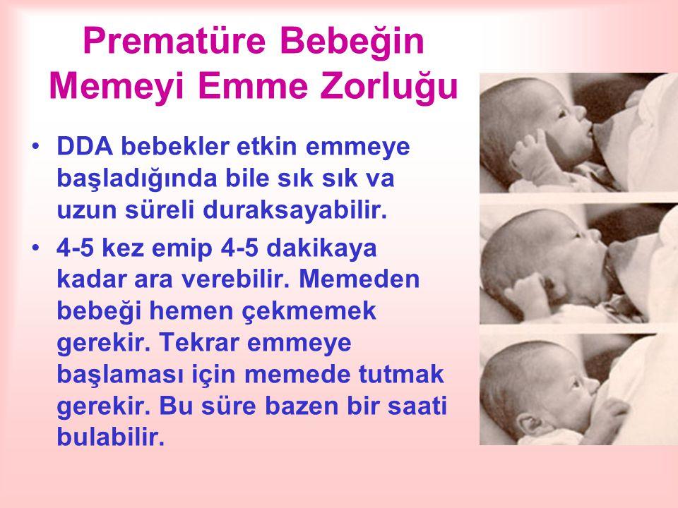 Prematüre Bebeğin Memeyi Emme Zorluğu