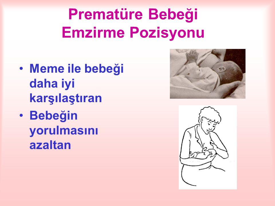 Prematüre Bebeği Emzirme Pozisyonu