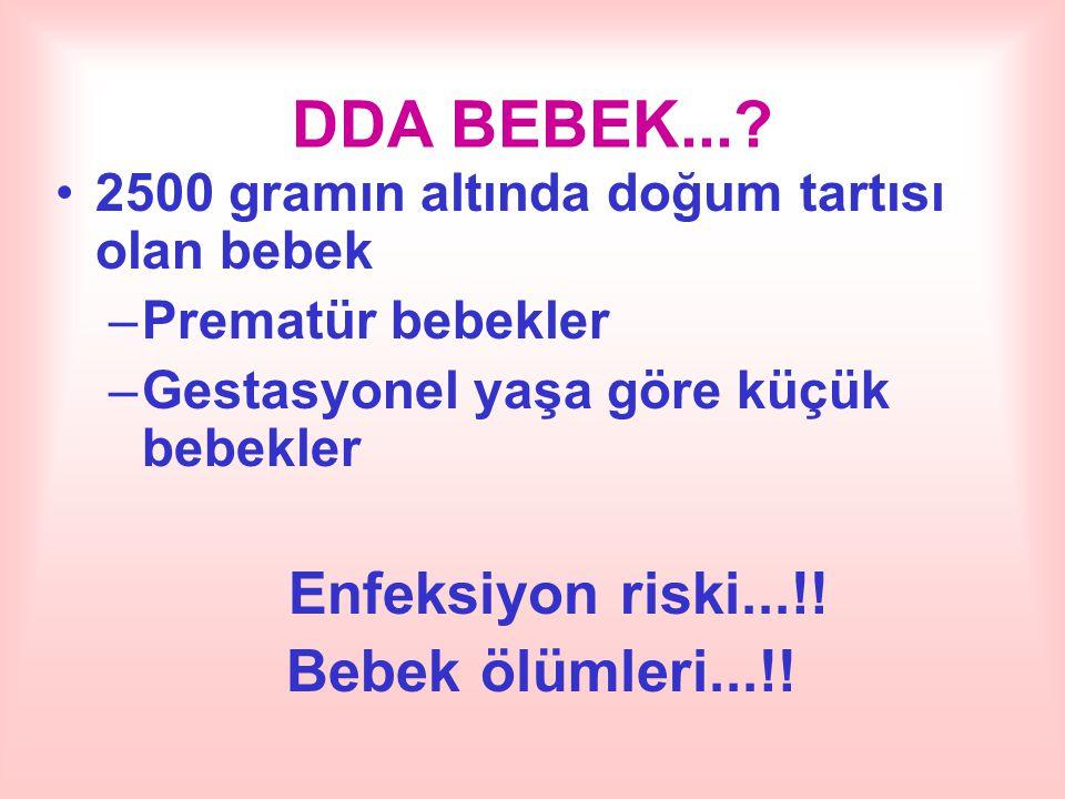 DDA BEBEK... Enfeksiyon riski...!! Bebek ölümleri...!!