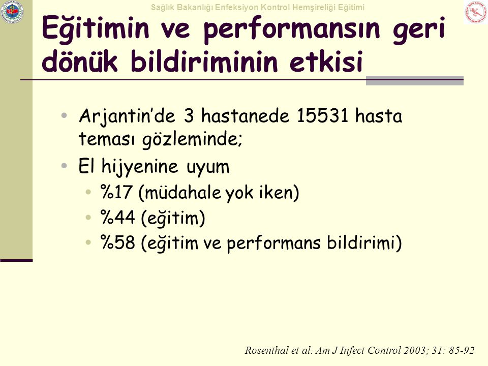 Eğitimin ve performansın geri dönük bildiriminin etkisi
