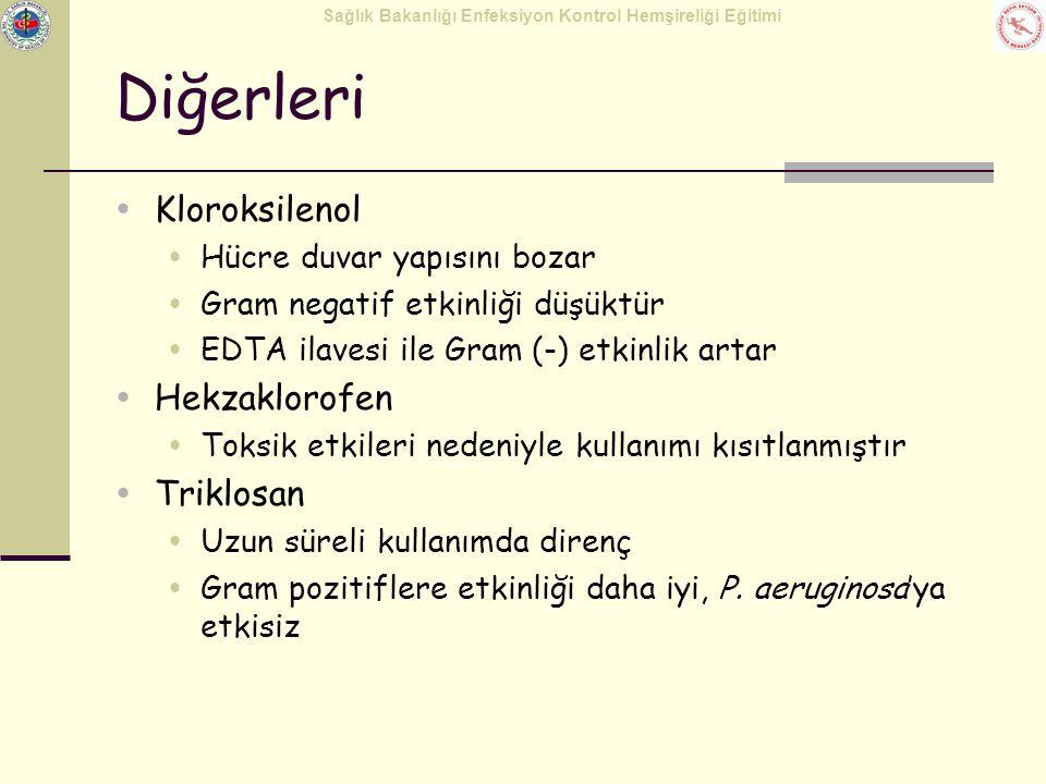 Diğerleri Kloroksilenol Hekzaklorofen Triklosan