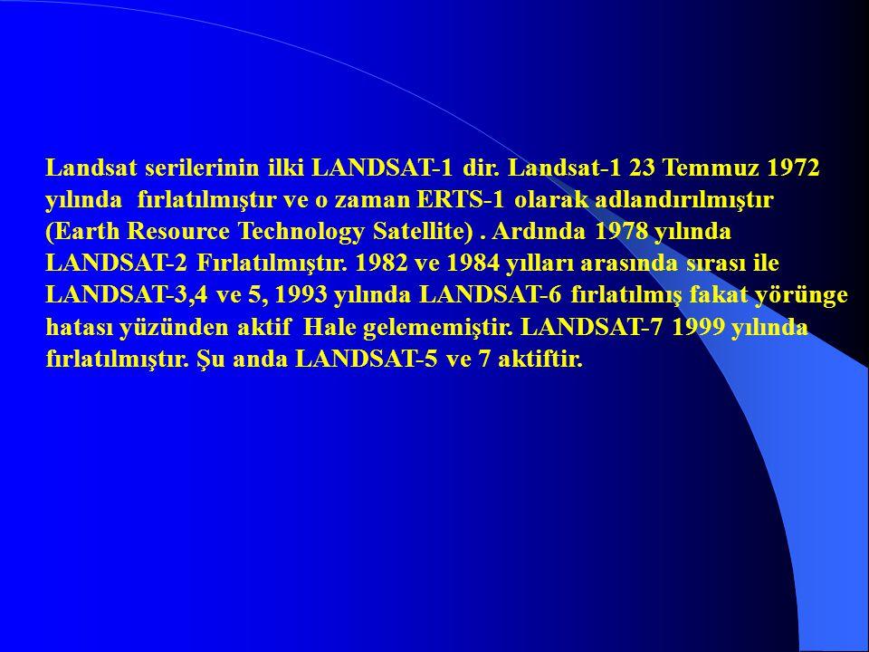 Landsat serilerinin ilki LANDSAT-1 dir