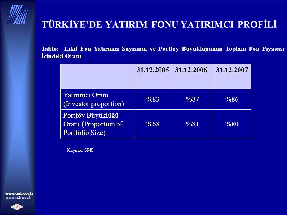 TÜRKİYE'DE YATIRIM FONU YATIRIMCI PROFİLİ