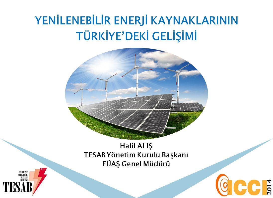 Halil ALIŞ TESAB Yönetim Kurulu Başkanı EÜAŞ Genel Müdürü