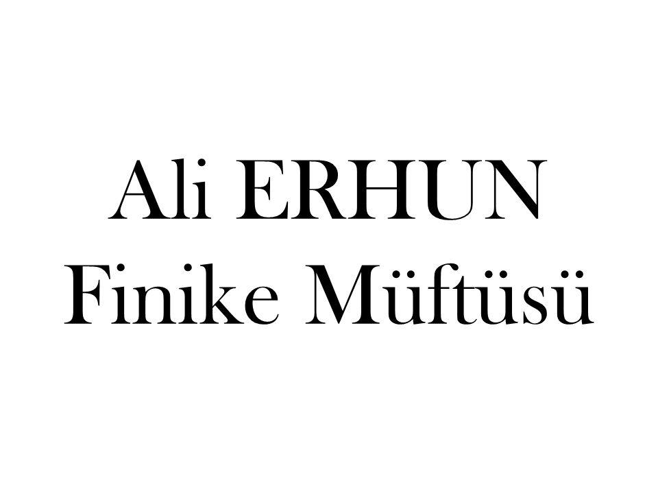 Ali ERHUN Finike Müftüsü