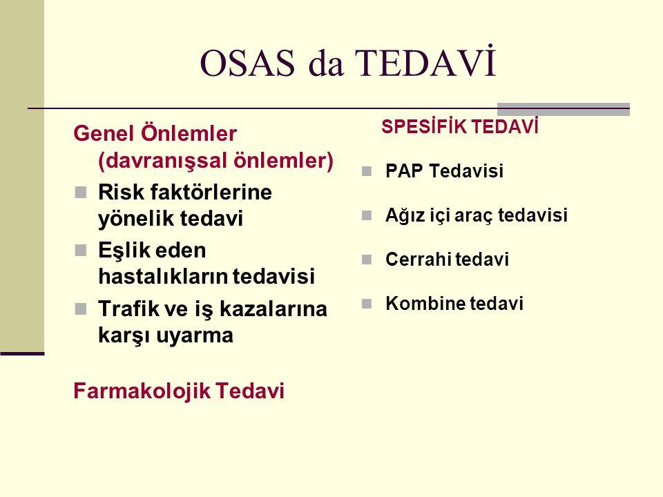 OSAS da TEDAVİ Genel Önlemler (davranışsal önlemler)