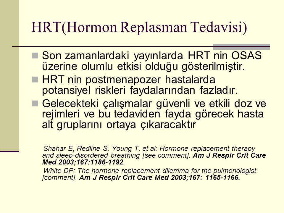 HRT(Hormon Replasman Tedavisi)