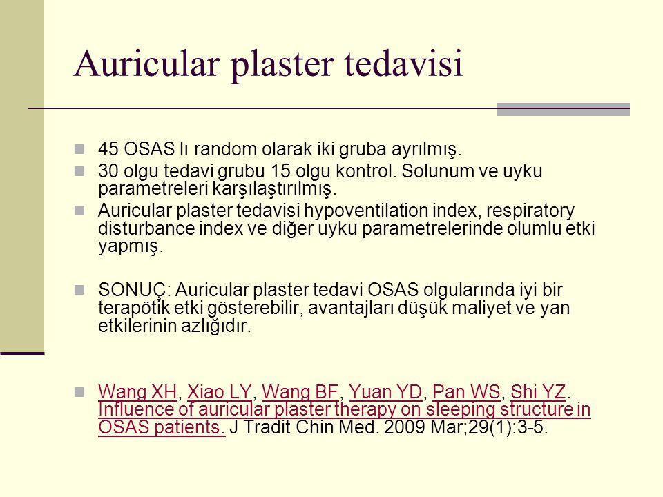 Auricular plaster tedavisi