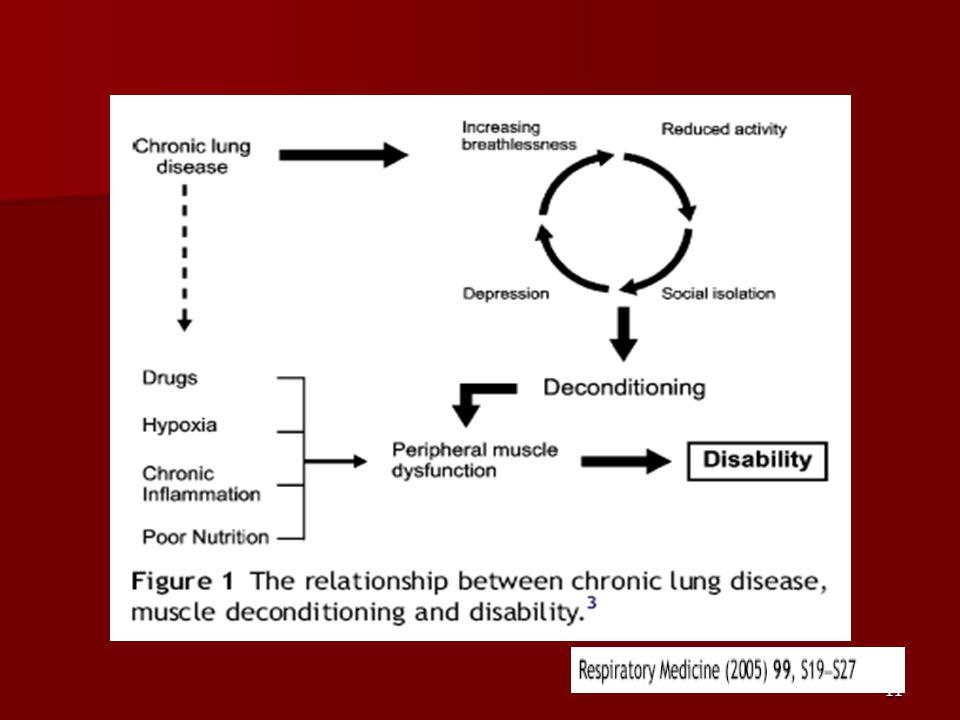 Solunum sistemi hastalıkları olan kişilerde belirgin fonksiyonel kısıtlanmalar gözlenir.