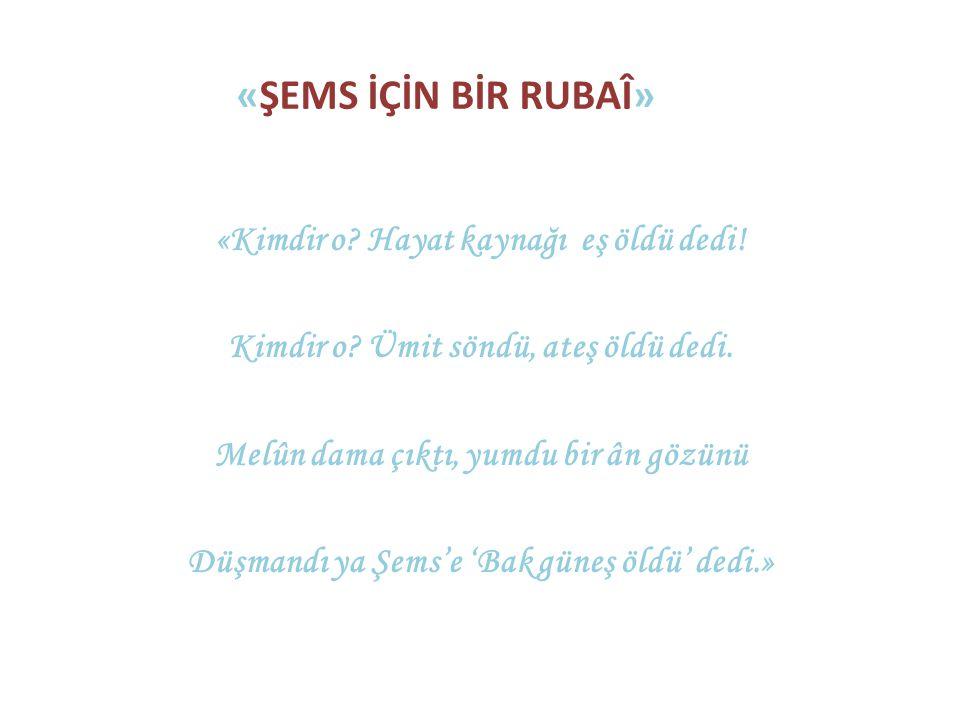 «ŞEMS İÇİN BİR RUBAλ