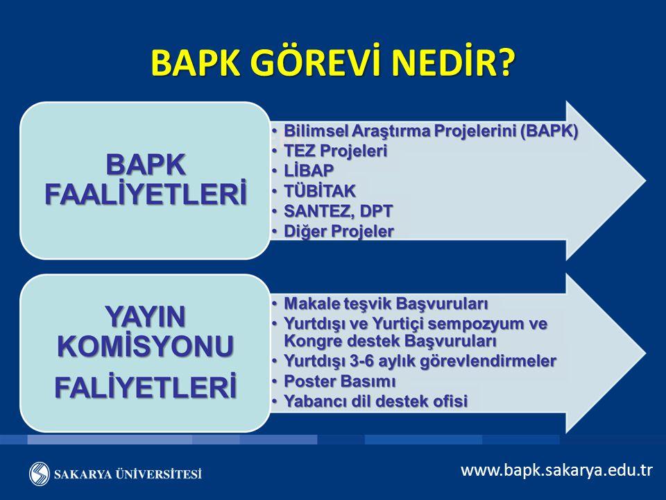 BAPK GÖREVİ NEDİR BAPK FAALİYETLERİ www.bapk.sakarya.edu.tr