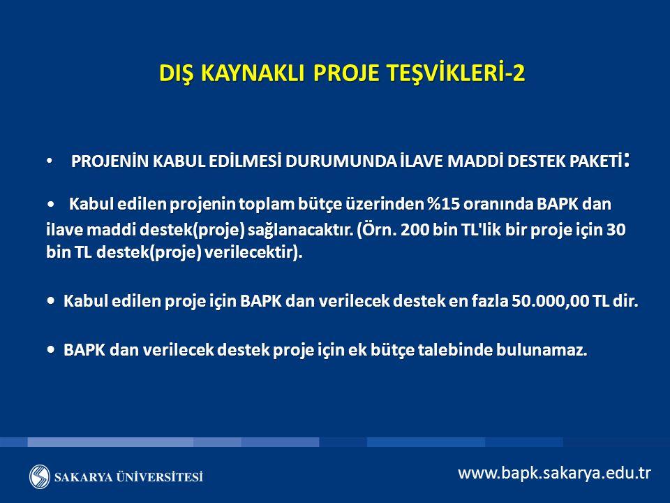 DIŞ KAYNAKLI PROJE TEŞVİKLERİ-2