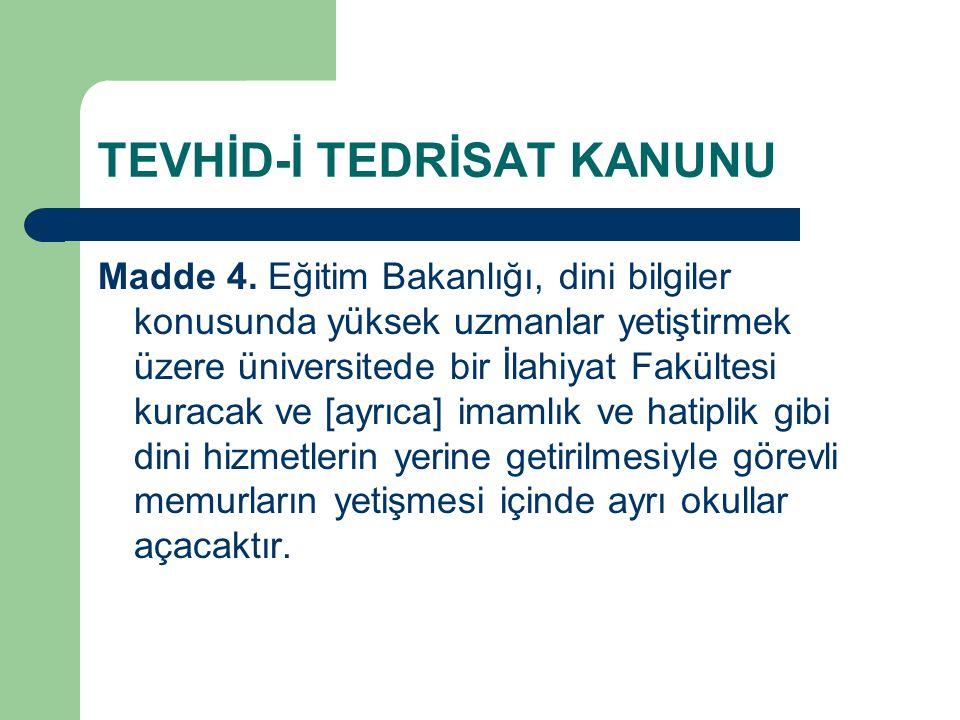 TEVHİD-İ TEDRİSAT KANUNU