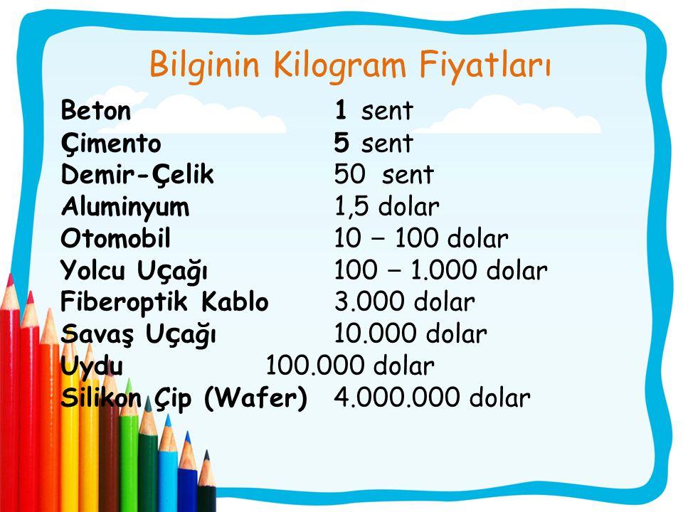 Bilginin Kilogram Fiyatları