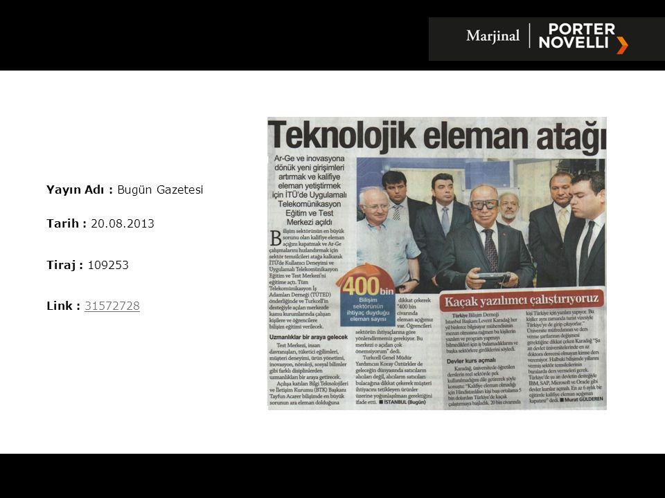 Yayın Adı : Bugün Gazetesi