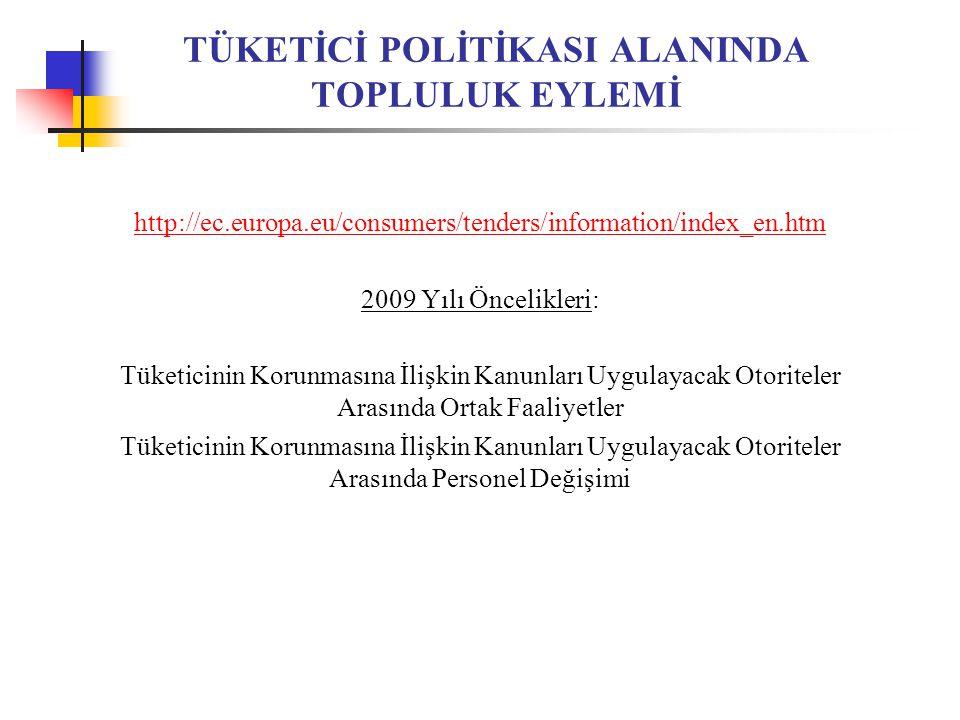 TÜKETİCİ POLİTİKASI ALANINDA TOPLULUK EYLEMİ
