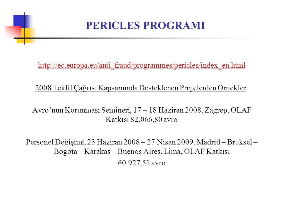 2008 Teklif Çağrısı Kapsamında Desteklenen Projelerden Örnekler:
